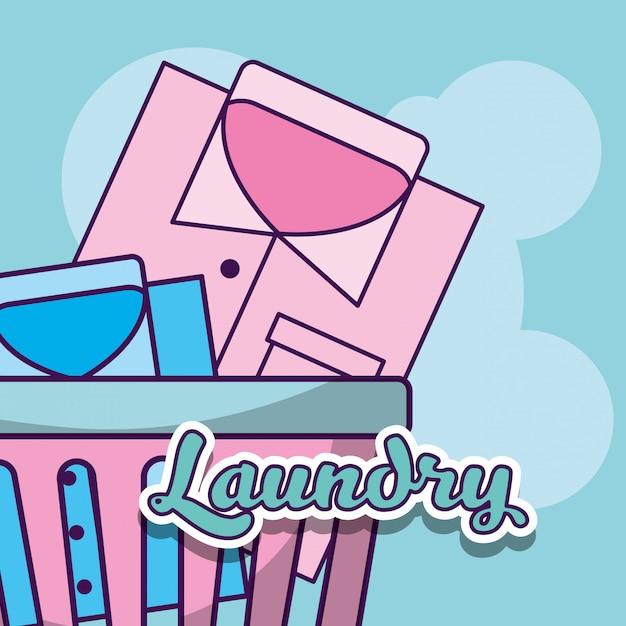 洗濯クリーニング関連 Premiumベクター