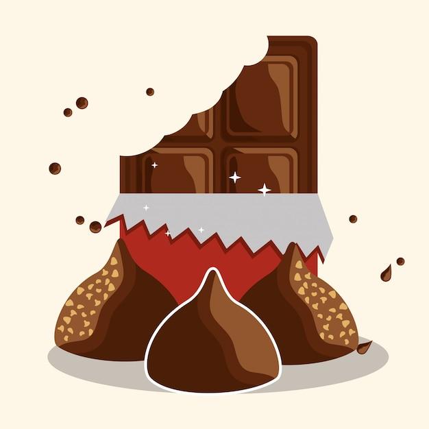 チョコレートココアカード Premiumベクター