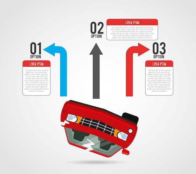 車両のインフォグラフィック Premiumベクター