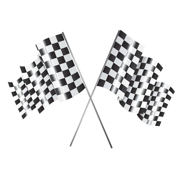 レーシングフラグ Premiumベクター
