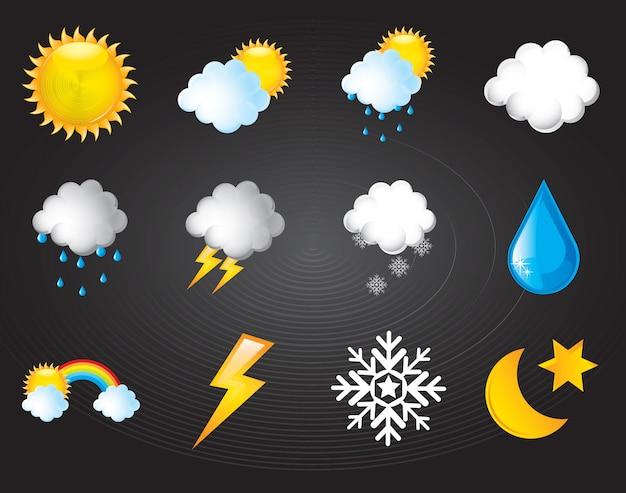 気候のシンボル Premiumベクター