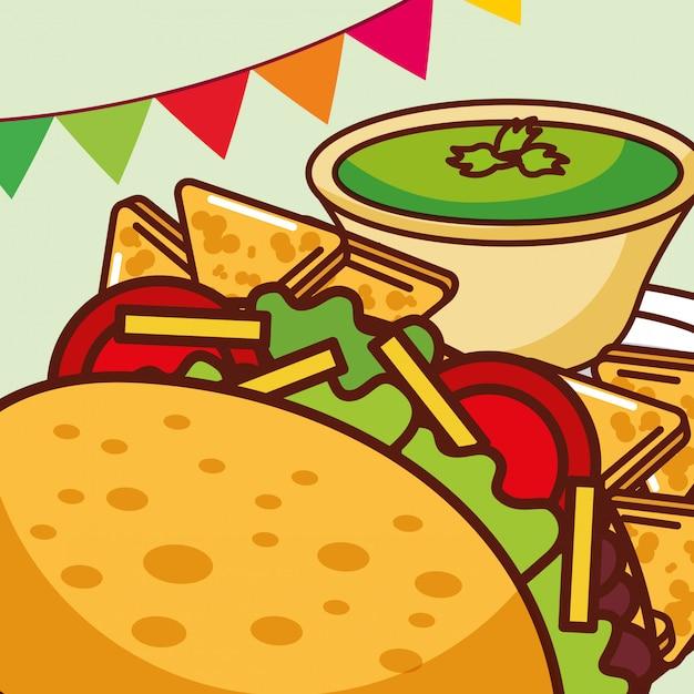 Мексиканская продовольственная карта Premium векторы