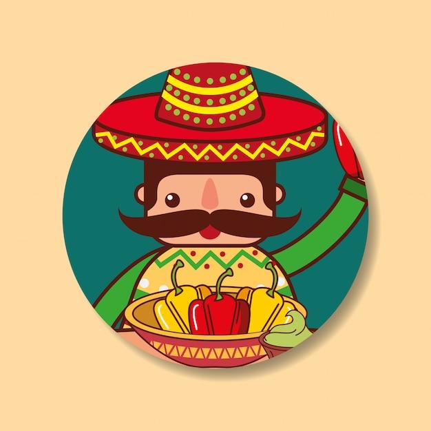 人々メキシコ料理 Premiumベクター