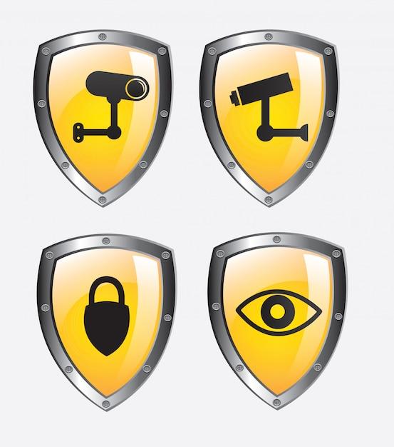 Безопасность Premium векторы