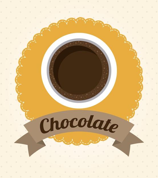 チョコレートデザイン Premiumベクター