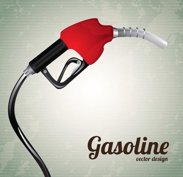 ガソリンディスペンサー Premiumベクター