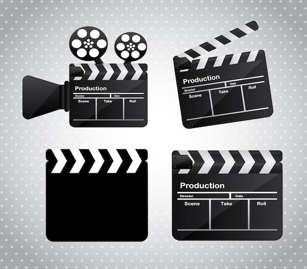 映画フィルム Premiumベクター