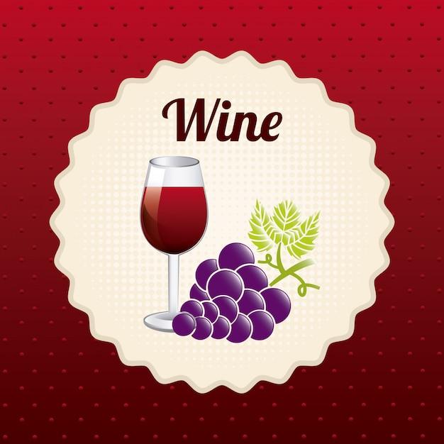ワインデザイン Premiumベクター