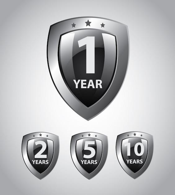 年シールド Premiumベクター