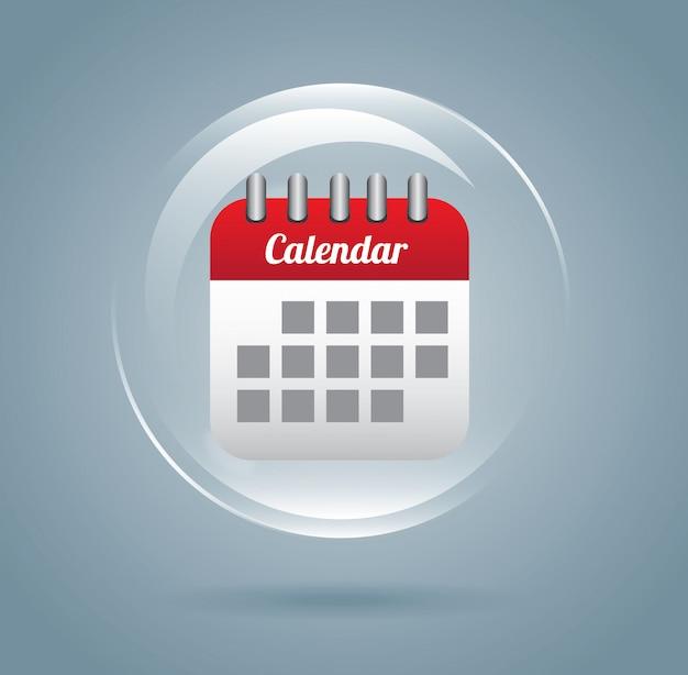 Дизайн календаря Premium векторы