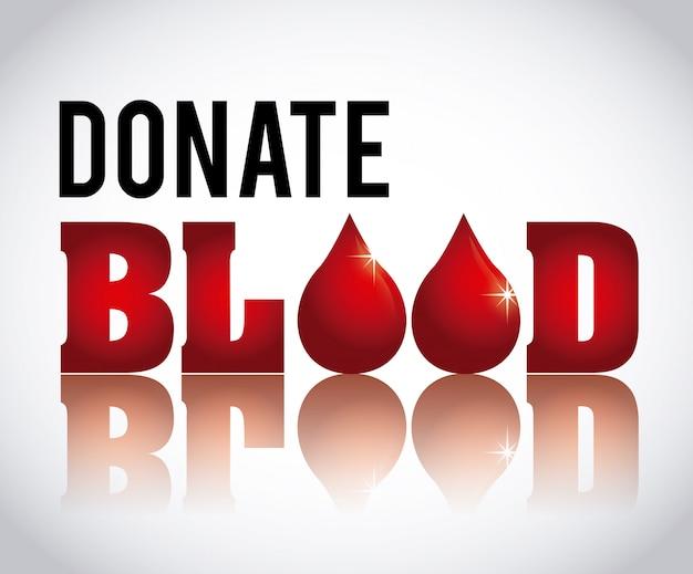 血液デザインを寄付 Premiumベクター