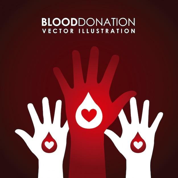 Сдать кровь дизайн Premium векторы