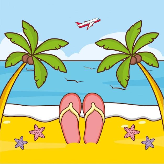 Пляжный отдых Бесплатные векторы