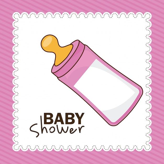 ベビーシャワー 無料ベクター
