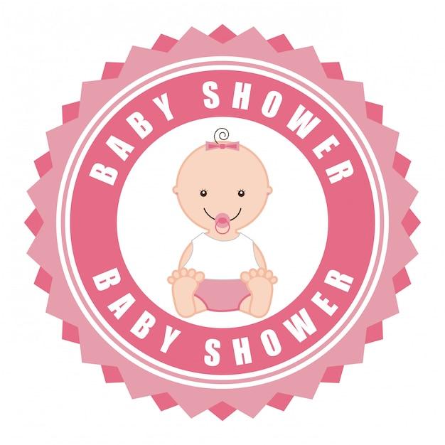 ベビーシャワーの単純な要素 無料ベクター