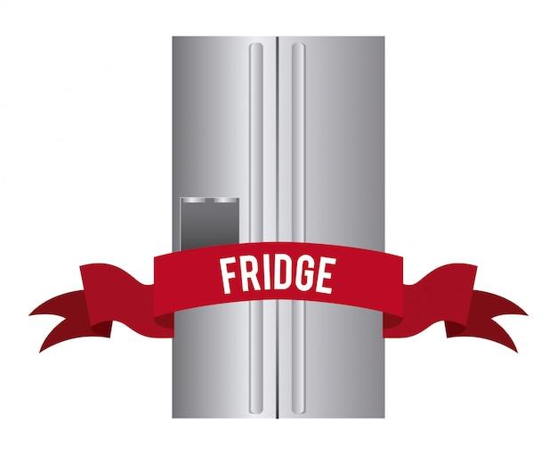 冷蔵庫の単純な要素 無料ベクター