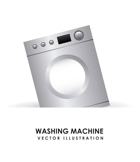 洗濯機の単純な要素 無料ベクター