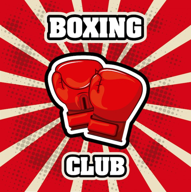 ボクシングの単純な要素 無料ベクター