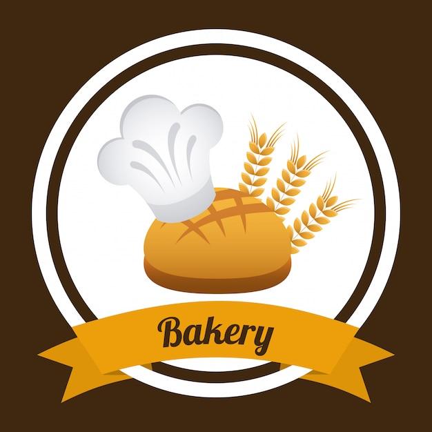 パン屋さんの単純な要素 無料ベクター