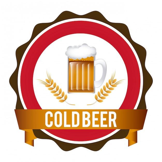 ビールグラフィックデザインベクトル図 無料ベクター