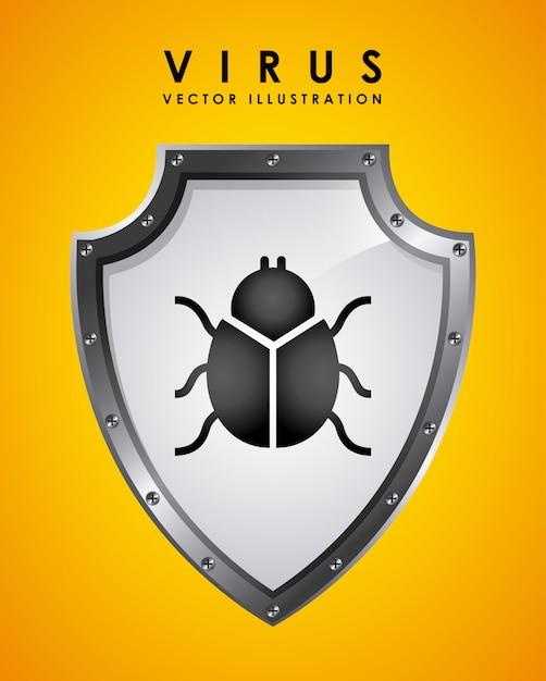 ウイルスグラフィックデザインベクトルイラスト 無料ベクター