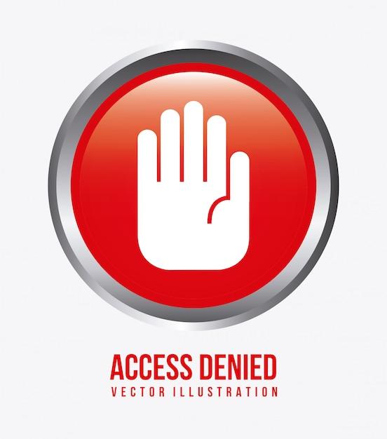 アクセス拒否デザイン 無料ベクター