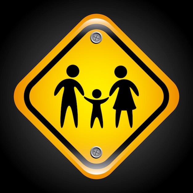 家族のデザイン 無料ベクター