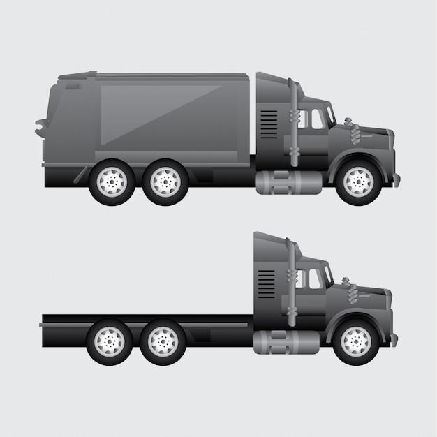 配達用トラック 無料ベクター