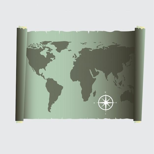 Карта сокровищ Бесплатные векторы