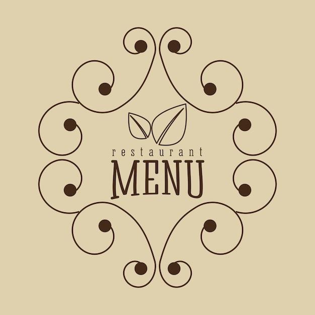 Вегетарианское меню Бесплатные векторы