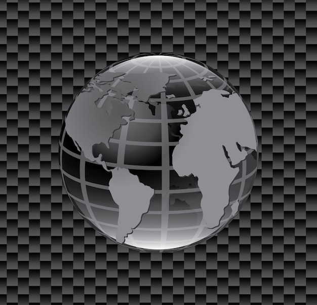 惑星地図アイコン 無料ベクター
