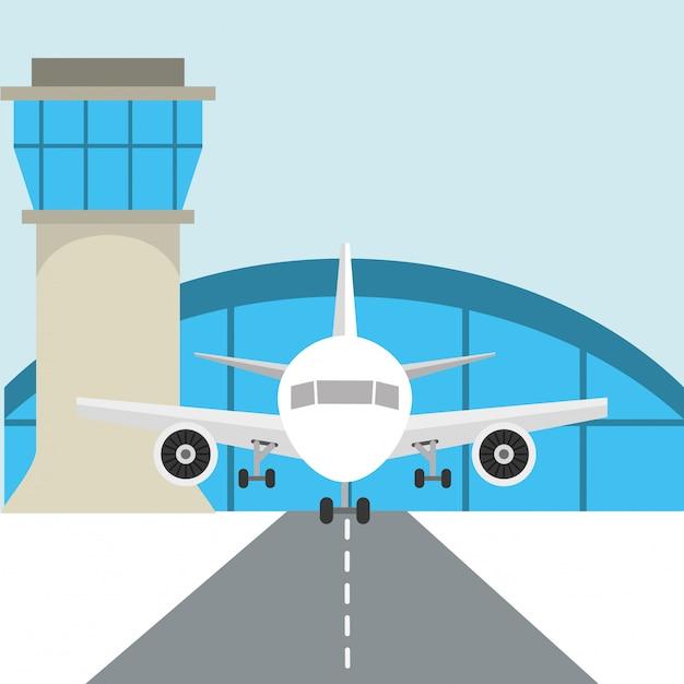 Проектирование терминала аэропорта Бесплатные векторы
