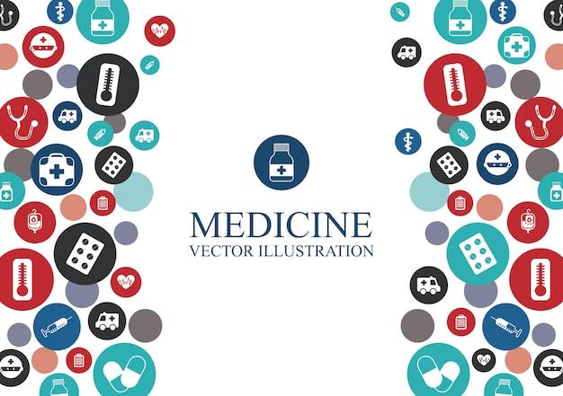 要素のグラフィックデザインと医療の背景 無料ベクター