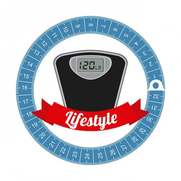 健康的なライフスタイルのグラフィックデザイン 無料ベクター
