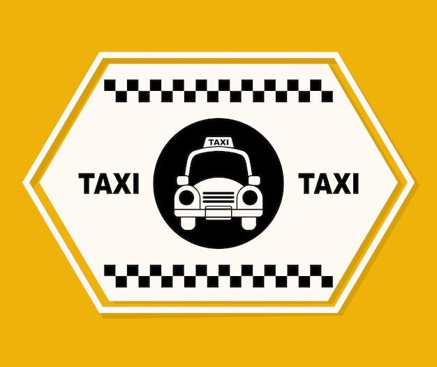 タクシーのグラフィックデザイン 無料ベクター