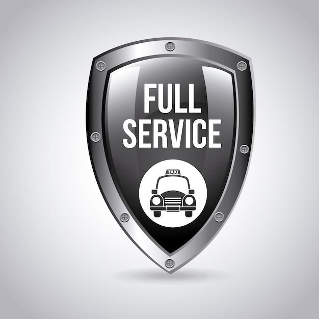 Логотип службы такси щит Бесплатные векторы