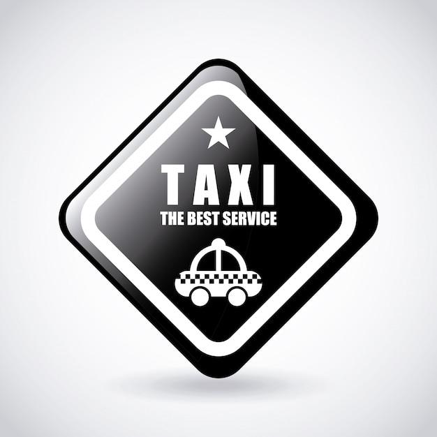 タクシーサービスのロゴのグラフィックデザイン 無料ベクター