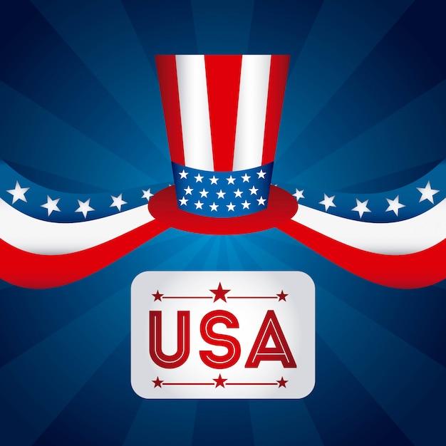 アメリカデザイン 無料ベクター