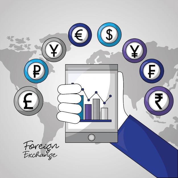 外国為替の背景 無料ベクター