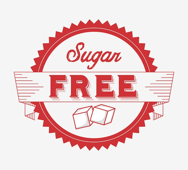 Лента без сахара Premium векторы