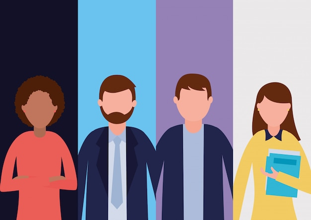 Группа деловых людей Бесплатные векторы