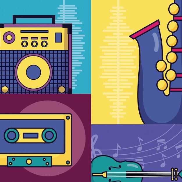 祭り音楽ポスター 無料ベクター