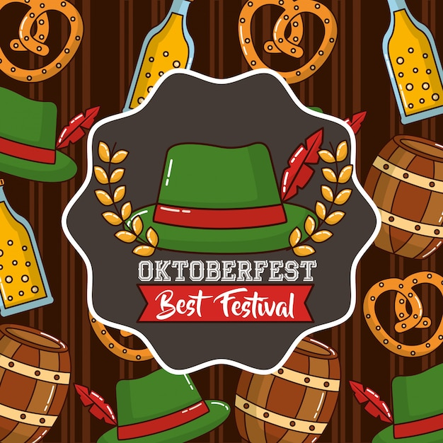 オクトーバーフェストドイツのお祝い 無料ベクター
