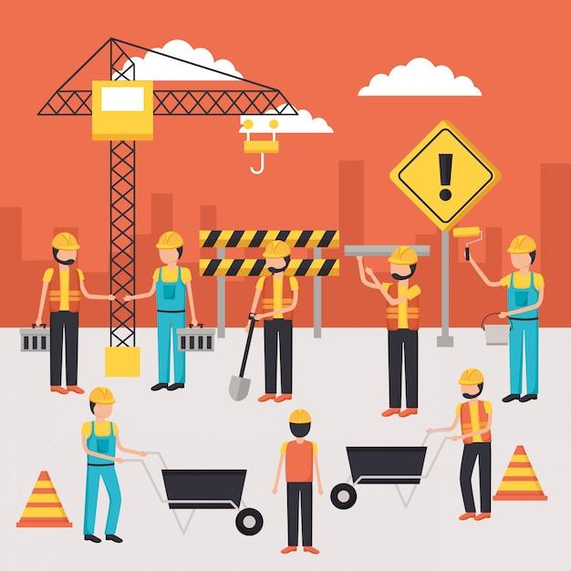 Рабочее строительное оборудование Бесплатные векторы