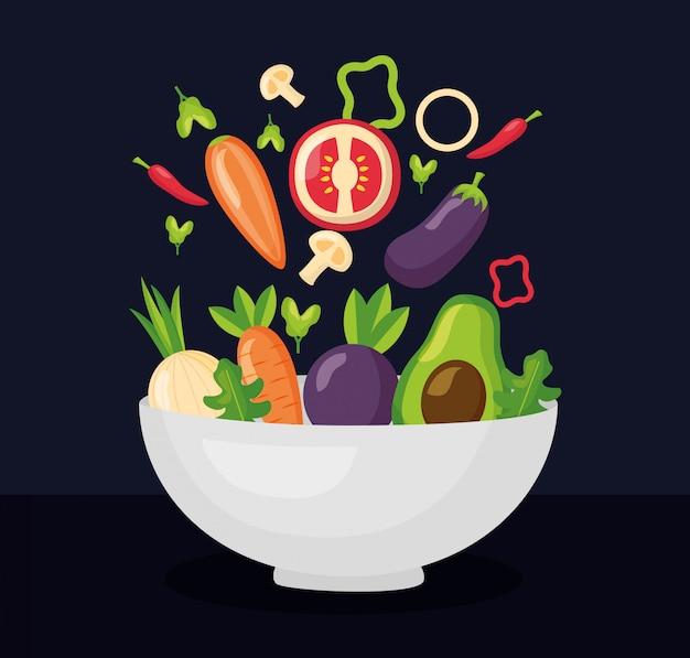 Здоровая пища свежая Бесплатные векторы