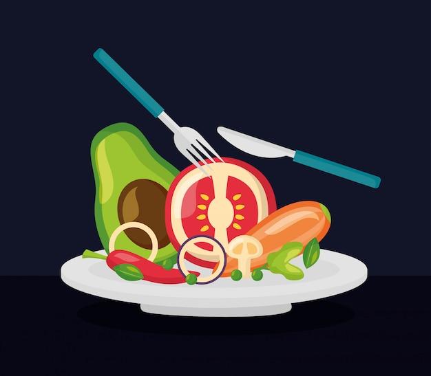 新鮮な健康食品 無料ベクター