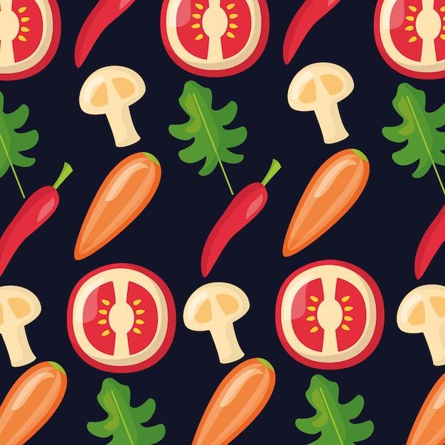 健康食品の新鮮なパターン 無料ベクター