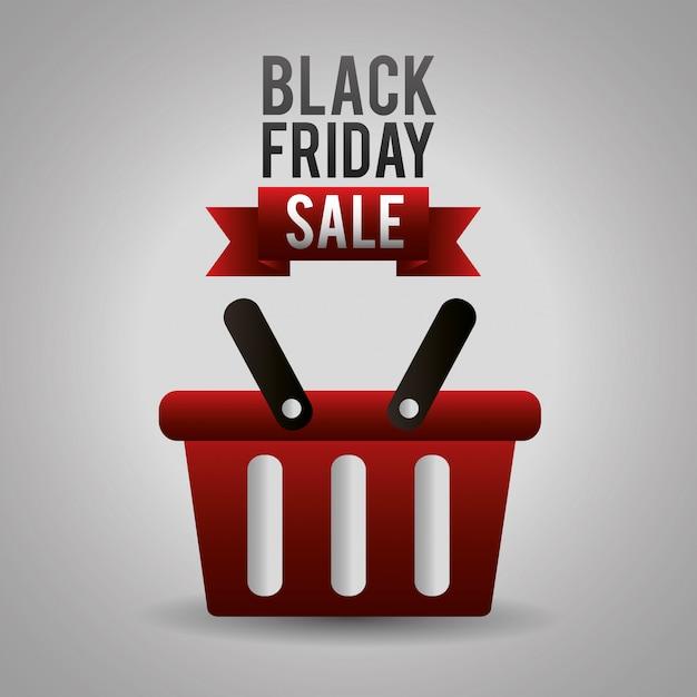 Черные покупки в пятницу Бесплатные векторы