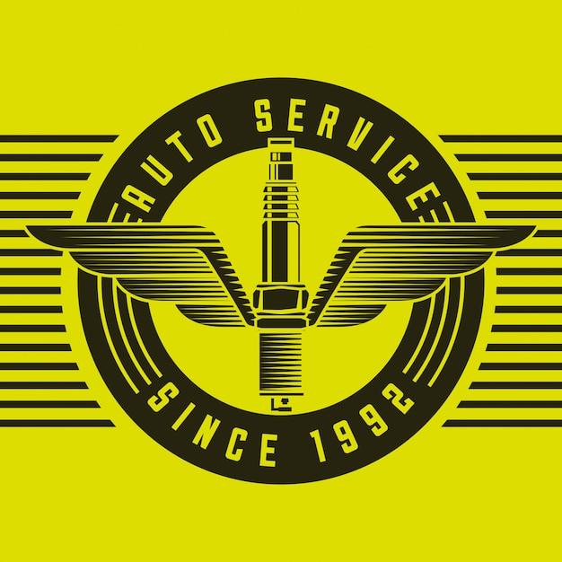 Логотип автомобильной промышленности Бесплатные векторы