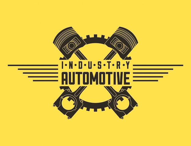 業界の自動車自動サービスのロゴ 無料ベクター